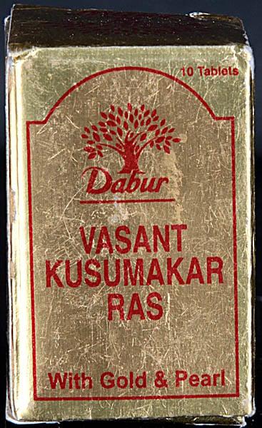 Vrihat Kusumakar Ras with Gold & Pearl (Ten Tablets)