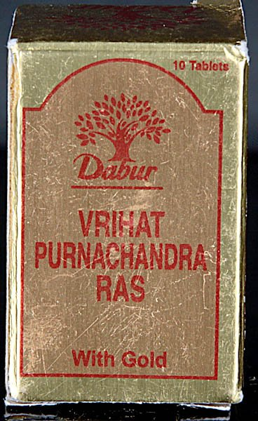 Vrihat Purnachandra Ras with Gold (Ten Tablets)