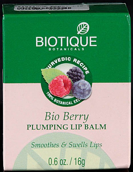 Bio Berry Plumping Lip Balm Smoothes & Swells Lips (100% Botanical Extracts)