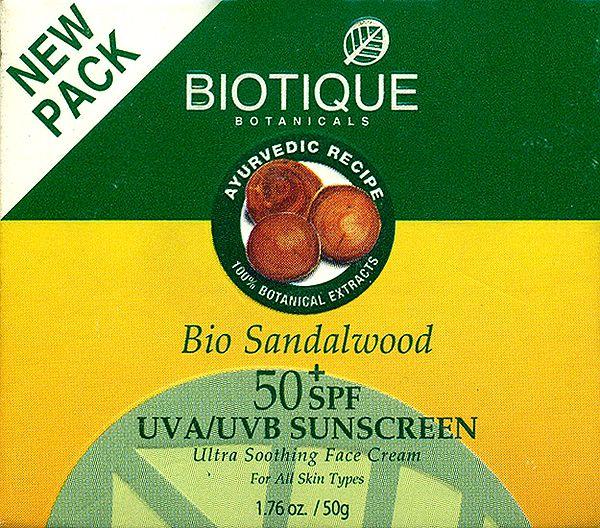 Bio Sandalwood Face & Body Sun Cream SPF 50 UVA/UVB Sunscreen (For All Skin Types In The Sun Very Water-Resistant)