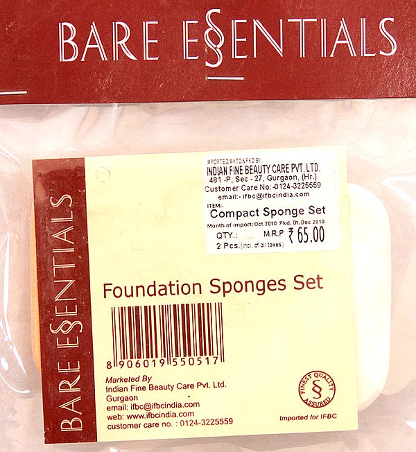 Bare Essentials Foundation Sponges Set (Set of Two Pieces)