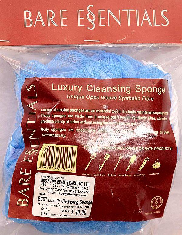 Bare Essentials Luxury Cleansing Sponge (Unique Open Weave Synthetic Fibre)