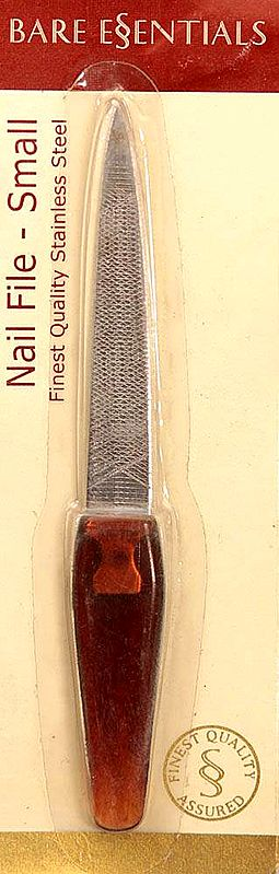 Bare Essentials Nail File - Small (Finest Quality Stainless Steel)