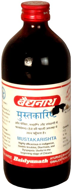 Mustakarishta (Highly Efficacious in Indigesion, Gastric Troubles, Diarrhoea, and Dyspepsia. Useful in the Beginning Stage of Chloera)
