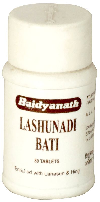 Lashunadi Bati Tablets (Enriched with Lahasun & Hing)