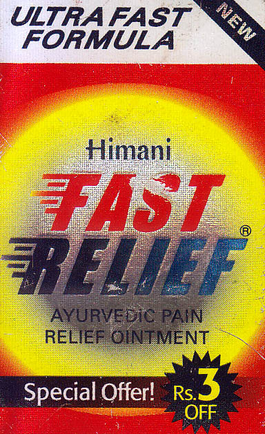 Fast Relief : Ayurvedic Pain Relief Ointment