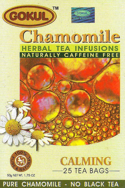 Chamomile Herbal Tea Infusions Naturally Caffeine Free: Calming 25 Tea Bags
