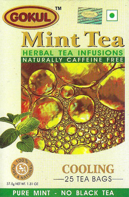 Mint Tea Herbal Tea Infusions Naturally Caffeine Free: Cooling 25 Tea Bags