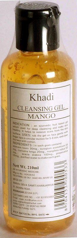 Khadi Cleansing Gel Mango