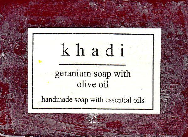 Khadi Geranium Soap With Olive Oil