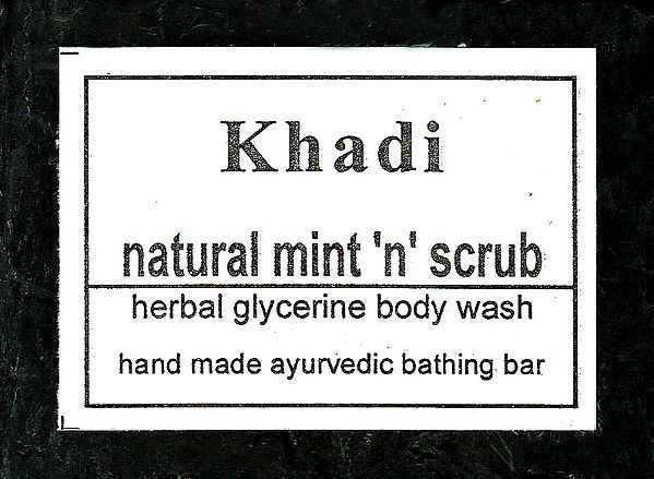 Khadi Natural Mint 'N' Scrub
