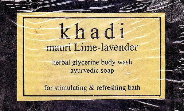 Khadi Mauri Lime-Lavender Soap