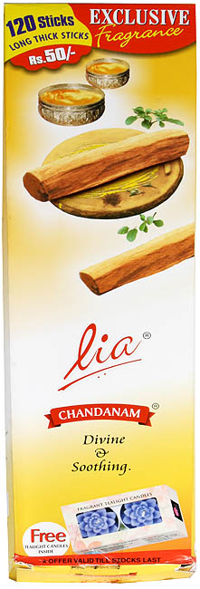 Lia Chandanam (Divine & Soothing): Incense Sticks (240 Sticks)