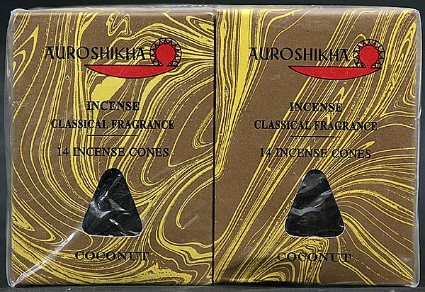 Auroshikha Incense Classical Fragrance 14 Incense Cones Coconut