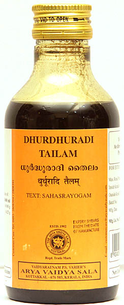 Dhurdhuradi Tailam (Text: Sahasrayogam)