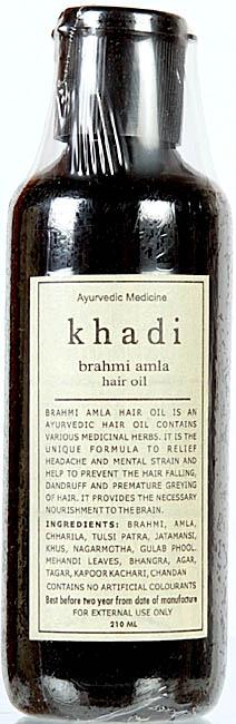 Khadi Brahmi Amla Hair Oil (Ayurvedic Medicine)