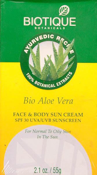 Bio Aloe Vera - Face & Body Sun Cream SPF 30 UVA/UVB Sunscreen