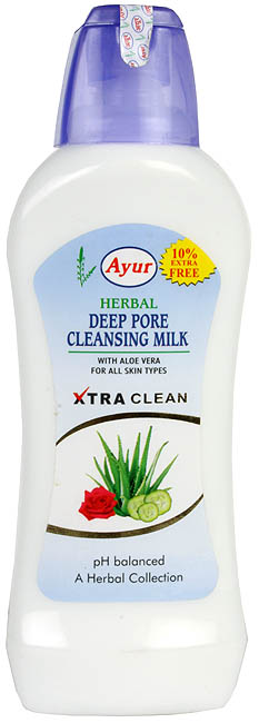 Herbal Deep Pore Cleansing Milk (With Aloe Vera for All Skin Types)