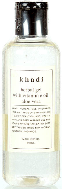 Khadi Herbal Gel with Vitamin E Oil, Aloe Vera