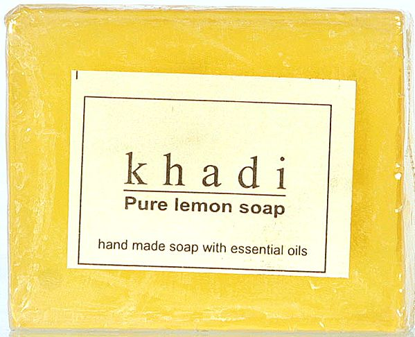 Khadi Pure Lemon Soap (Hand Made Soap With Essential Oil) (Price Per Pair)