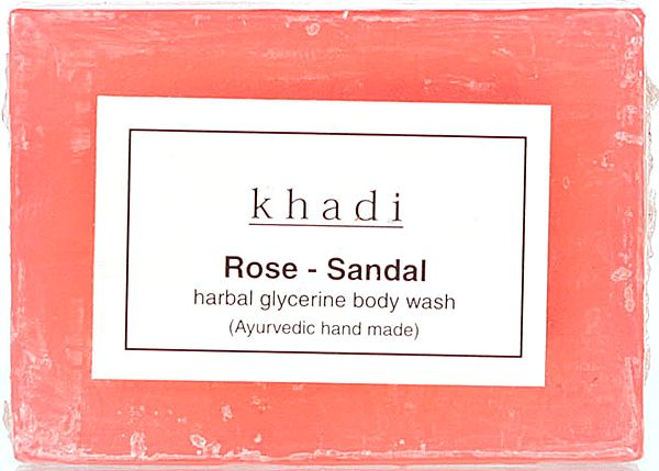 Khadi Rose Sandal Herbal Glycerine Body Wash (Ayurvedic Hand Made ) (Price Per Pair)