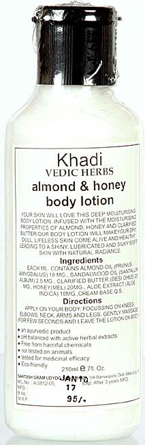 Khadi Vedic Herbs Almond & Honey Body Lotion