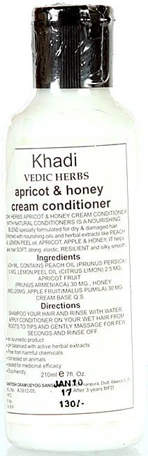 Khadi Vedic Herbs Apricot & Honey Cream Conditioner