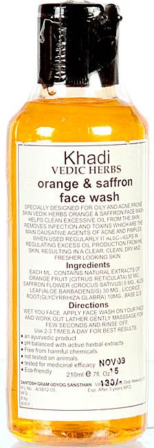 Khadi Vedic Herbs Orange & Saffron Face Wash