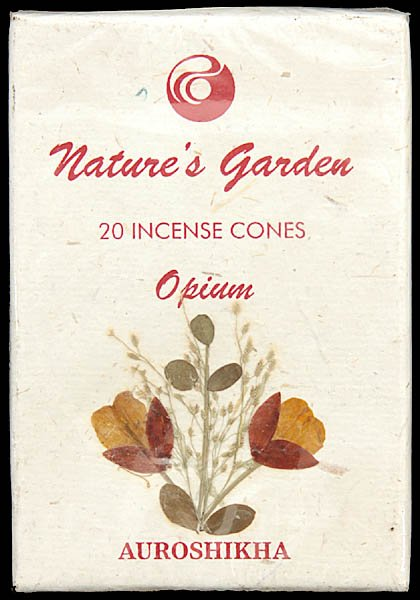 Opium - Nature's Garden Incense Cones (Pack 4 Packets)