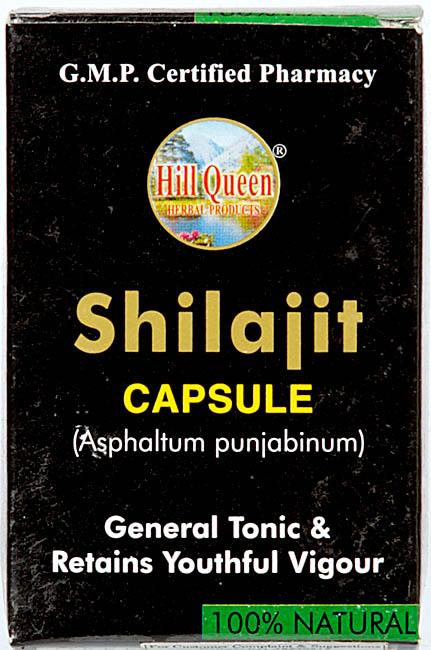 Shilajit Capsule Asphaltum Punjabinum (General Tonic & Retains Youthful Vigour)