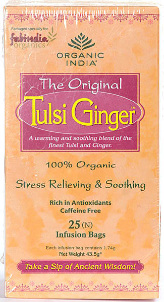 The Original  Tulsi Ginger: 25 Infusion Bags