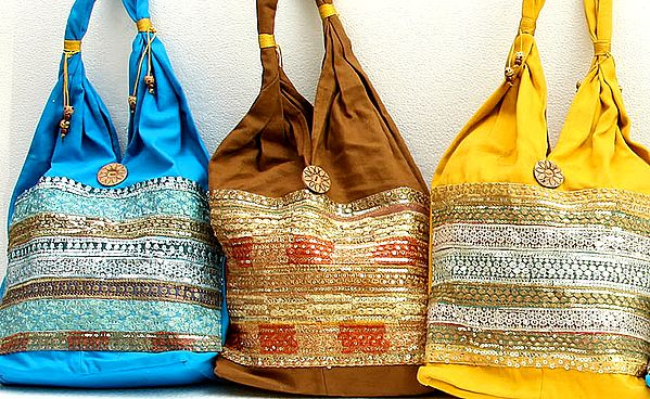Lot of Three Gota Shoulder Bags with Sequins