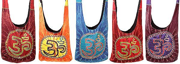 Lot of Five Om Jhola Bags