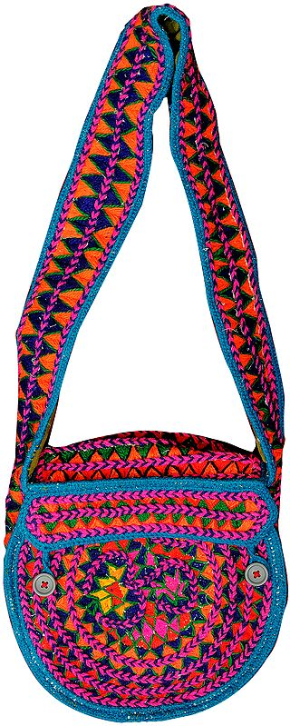 Om Shoulder Bag Made by a Sadhu in Haridwar