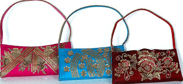 Lot of Three Handbags with All-Over Sequins and Beads