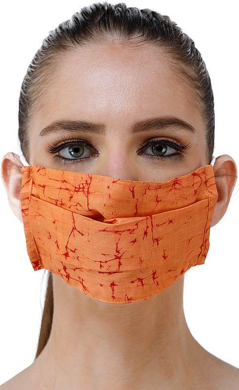 Batik Print Two ply Fashion Mask with Cotton-Backing