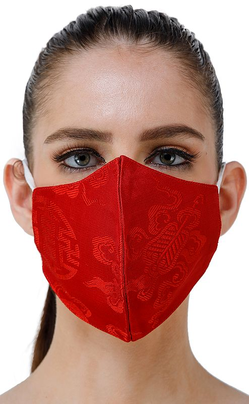 Ashtamangala Two ply Fashion Mask from Banaras