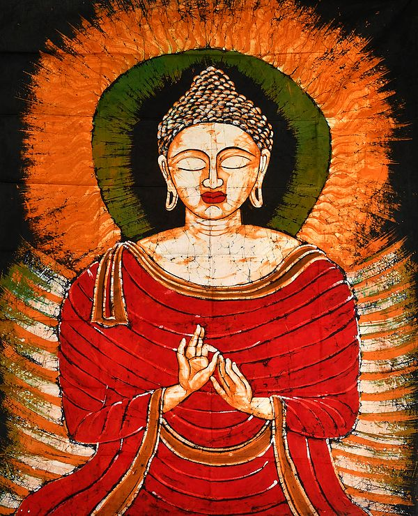 Buddha In The Upper Realms Of Dhyana, His Hands In Dharmachakra Mudra
