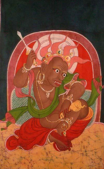Kubera Jambhala with Mongoose