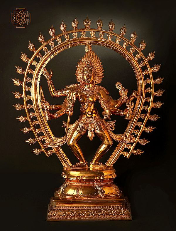 The Glowing Svaroopa Of The Fierce Ashtabhujadhari Kali