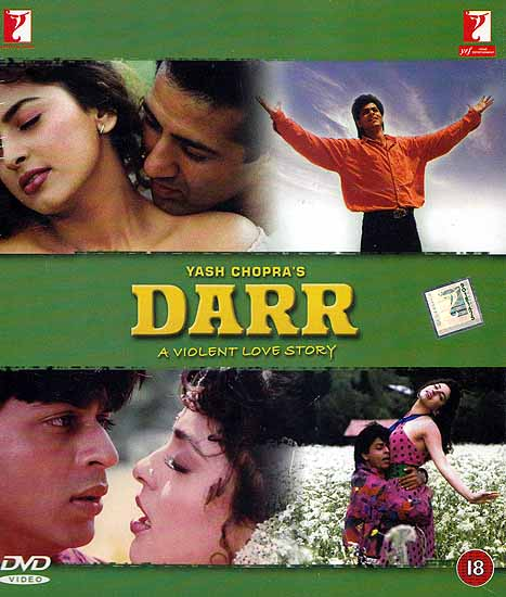 Fear: One Man's Passionate Obsession with a Woman (A Violent Love Story Showcasing One of Shahrukh Khan's Finest Performances): Winner of the Best Film Award in 1993 (Hindi Film DVD with English Subtitles) (Darr)