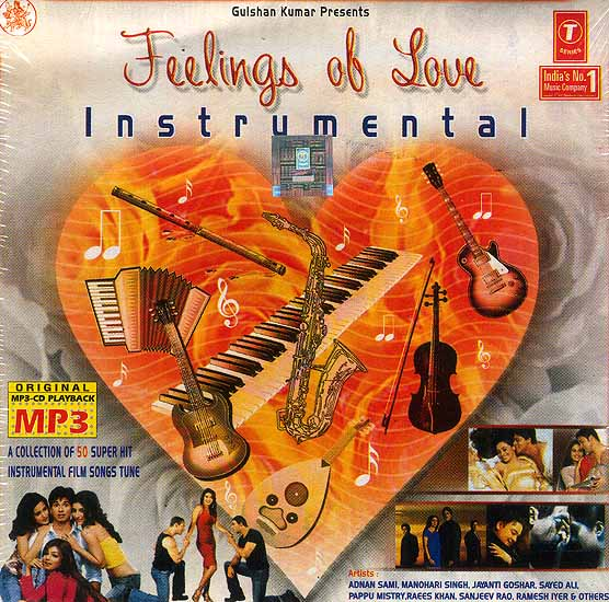 Feelings of Love Instrumental: A Collection of 50 Superhit Instrumental Film Songs Tune (MP3 CD)