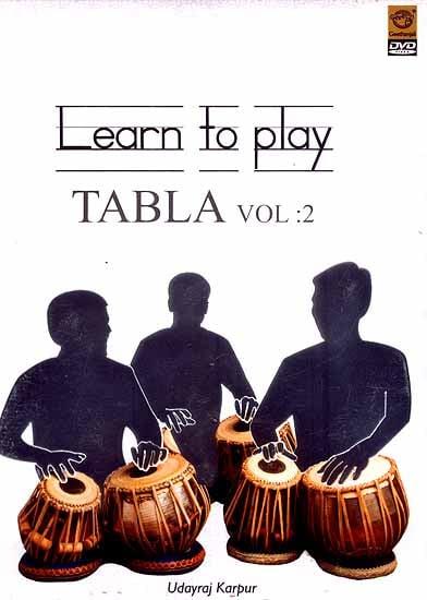 Learn to Play Tabla Vol: 2 (In English) (DVD Video)