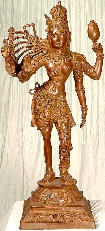 Large Size Ardhanarishvara : The Half Male and Half Female Form of Shiva