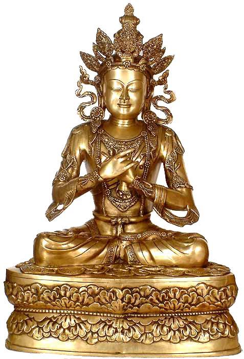 Large Size Crowned Buddha (Sambhogakaya)