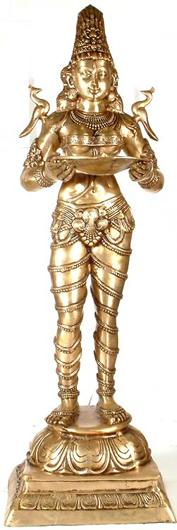 Large Size Deeplakshmi - An Icon of Auspiciousness