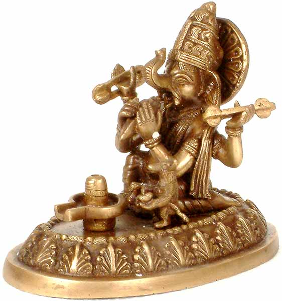 Ganesha Worships the Shivalinga