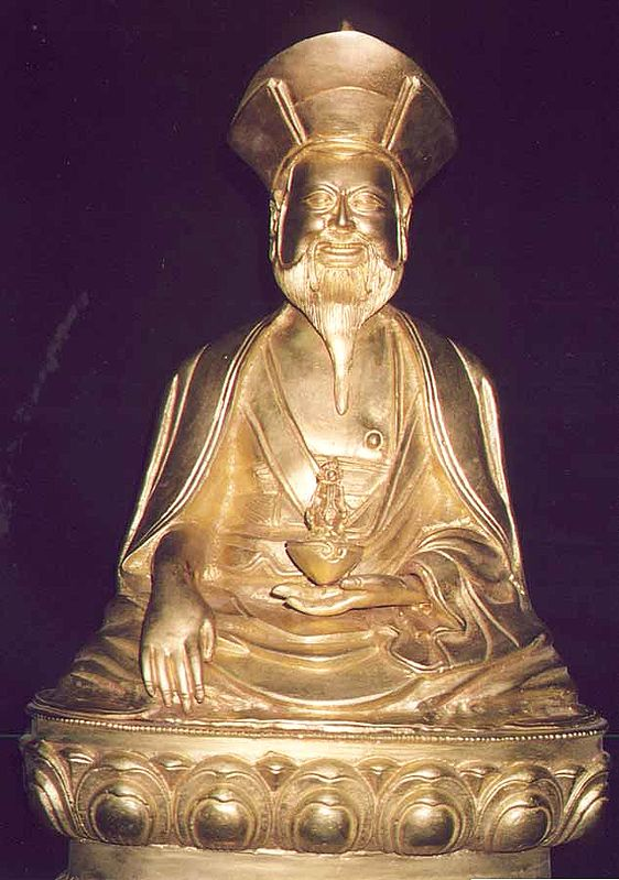 (Tibetan Buddhist Deity) Guru Lama Holding the vase of Immortality