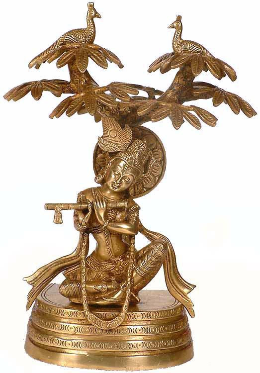 Krishna Under The Kadamba Tree