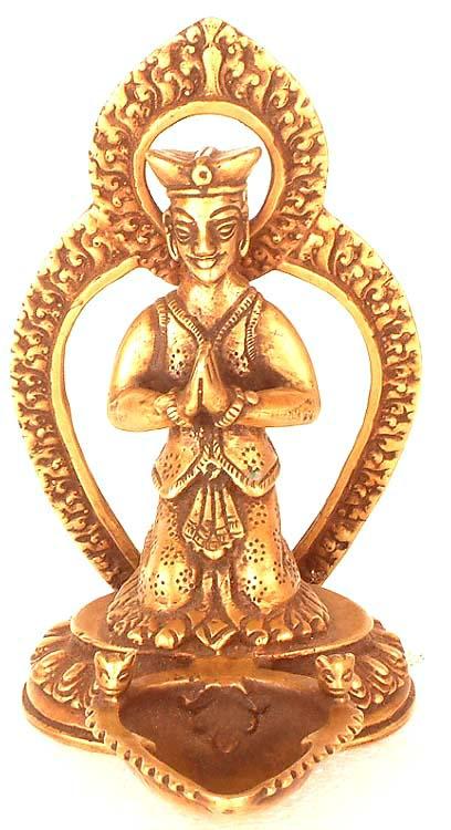 Malla King Ritual Lamp from Nepal
